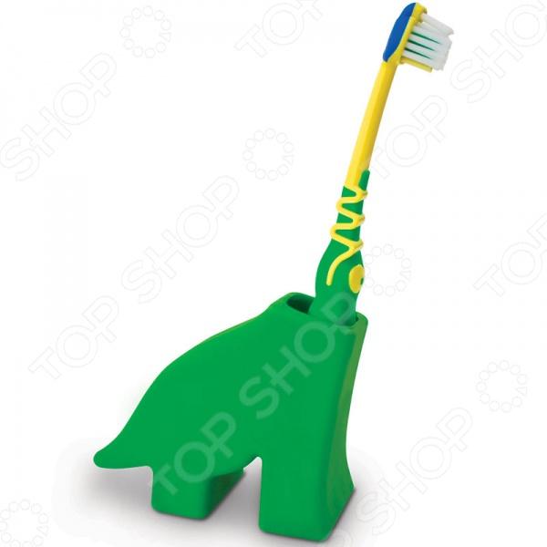 Держатель для зубной щетки J-me DinosaurАксессуары для ванной комнаты<br>Держатель для зубной щетки J-me Dinosaur поможет без лишних хлопот и проблем привить вашему малышу любовь к чистке зубов. Подставка порадует любого кроху, ведь стоит поставить щетку в подставку, как она тут же превратится в веселого динозаврика. Этот забавный и яркий динозаврик сделает процесс ежедневной гигиены полости рта еще более интересным и поможет привить ребенку хорошую и правильную привычку.<br>