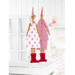 фото Набор для шитья куклы Tilda Санты в пижамах