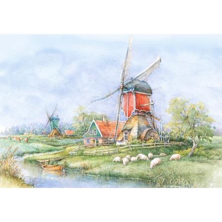 Купить Пазл 1000 элементов Castorland «Деревня, Голландия»