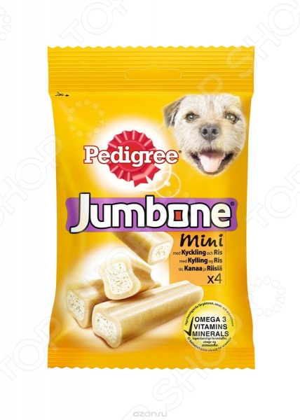 Лакомство для собак Pedigree Jumbone Mini с курицей и рисом