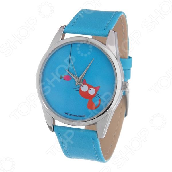 Часы наручные Mitya Veselkov «Кошка и рыбка»