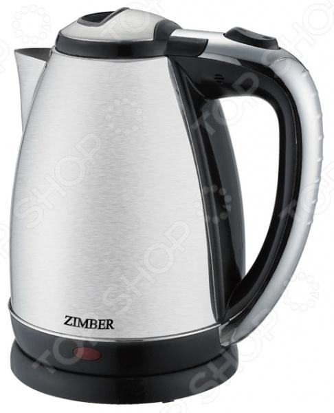 Чайник Zimber ZM-10760Чайники электрические<br>Чайник Zimber ZM-10760 с уверенностью займет достойное место на вашей кухне. Электрический чайник емкостью 1.8 литра, с корпусом из нержавеющей стали, имеет мощный нагревательный элемент 1500 Вт , который вскипятит воду за несколько минут. Благодаря стильному дизайну впишется в любую современную кухню.<br>