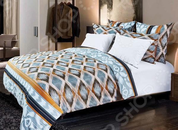 Комплект постельного белья Primavelle «Ритон». 2-спальный2-спальные<br>Комплект постельного белья Primavelle Ритон это незаменимый элемент вашей спальни. Человек треть своей жизни проводит в постели, и от ощущений, которые вы испытываете при прикосновении к простыням или наволочкам, многое зависит. Чтобы сон всегда был комфортным, а пробуждение приятным, мы предлагаем вам этот комплект постельного белья. Приятный цвет и высокое качество комплекта гарантирует, что атмосфера вашей спальни наполнится теплотой и уютом, а вы испытаете множество сладких мгновений спокойного сна. В качестве сырья для изготовления этого изделия использованы нити хлопка. Натуральное хлопковое волокно известно своей прочностью и легкостью в уходе. Волокна хлопка состоят из целлюлозы, которая отлично впитывает влагу. Хлопок дышит и согревает лучше, чем шелк и лен. Поэтому одежда из хлопка гарантирует владельцу непревзойденный комфорт, а постельное белье приятно на ощупь и способствует здоровому сну. Не забудем, что хлопок несъедобен для моли и не деформируется при стирке. За эти прекрасные качества он пользуется заслуженной популярностью у покупателей всего мира. Комплект постельного белья Primavelle Ритон выполнен из бязи. Бязь это одна из самых популярных тканей. Постоянному спросу на такую ткань способствует то, что на протяжении многих лет она остается незаменимой в производстве постельного белья, медицинской одежды, мужских сорочек и даже детских пеленок. Это объясняется уникальными свойствами такой ткани: гладкая и приятная на ощупь, но в то же время очень прочная и стойкая к многочисленным стиркам. Комплект из бязи прослужит очень долго, если соблюдать простые рекомендации. Необходимо стирать при температуре 40 , используя порошок для цветного белья. Не применять хлорсодержащие средства и отбеливатели. Желательно выворачивать белье наизнанку перед стиркой. Гладить при помощи утюга с функцией подачи пара или через влажную ткань.<br>