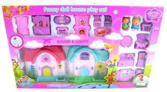 Кукольный дом с аксессуарами Shantou Gepai 628745Кукольные домики. Мебель<br>Кукольный дом с аксессуарами Shantou Gepai 628745 - оригинальный и интересный игровой набор, который обязательно понравится каждой малышке. Многие девочка мечтают о красивом, красочном и ярком доме для своих кукол в котором можно разыгрывать различные сценки и ситуации, самостоятельно придумывать новые сюжете. В процессе таких игр у ребенка формируется воображение, мышление, развивается память. В комплекте красивая игрушечная мебель, которая поможет создать уютную обстановку в доме, а так же множество других аксессуаров, которые позволят значительно разнообразить игровой процесс и сделать его еще более интересным, увлекательным и реалистичным. Все элементы набора выполнены из качественных и безопасных материалов. Модель оснащена световыми и звуковыми эффектами.<br>