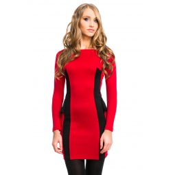 фото Платье Mondigo 5052. Цвет: брусничный. Размер одежды: 48
