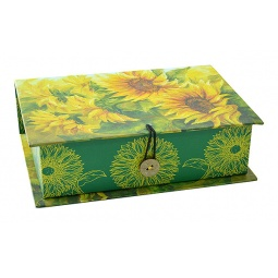 фото Шкатулка-коробка подарочная Феникс-Презент «Подсолнухи»
