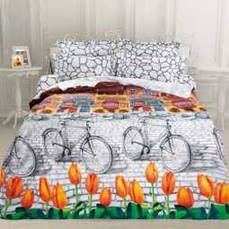 фото Комплект постельного белья Унисон «Голландский уголок». Семейный