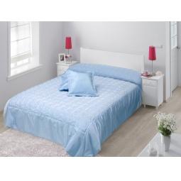 фото Покрывало с подушками TAC Melanie. Цвет: голубой, перламутровый