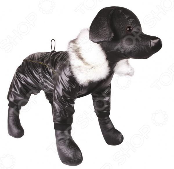 Комбинезон для собак DEZZIE «Джойн»Комбинезоны<br>Комбинезон для собак DEZZIE 561514 это удобный комбинезон для собак, в котором ваш питомец будет чувствовать себя тепло и комфортно. Кроме того, собака будет выглядеть модно, оригинально и невероятно стильно, вы можете даже подобрать комбинезон в тон со своей курткой. Рукава на передние и задние лапы, застежки на липучках, позволяют регулировать одежду по объему шеи и груди. Комбинезоны такого типа незаменимы при прогулке с собакой в осенне-зимний период или просто холодный день.<br>