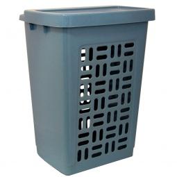 фото Корзина для белья IDEA М 2610. Цвет: голубой мрамор. Объем: 60 л