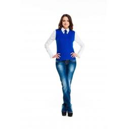 фото Жилет Mondigo 9007-21. Цвет: синий. Размер одежды: 42