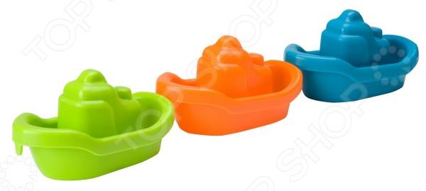 Набор игрушек для ванны Alex «3 цветные лодочки» игрушки для ванны tolo toys набор ведерок квадратные