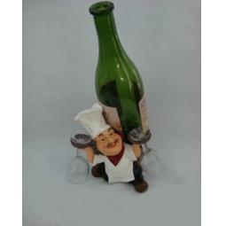 фото Подставка для вина Drivemotion Повар держит бокал и бутылку