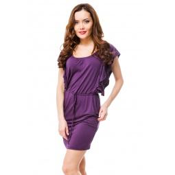 фото Платье Mondigo 8588. Цвет: баклажановый. Размер одежды: 46