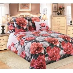 фото Комплект постельного белья Королевское Искушение «Пионы». 2-спальный. Размер простыни: 220х195 см