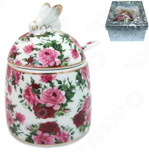фото Горшочек для меда Elan Gallery «Аромат роз», Банки для мёда. Розетки