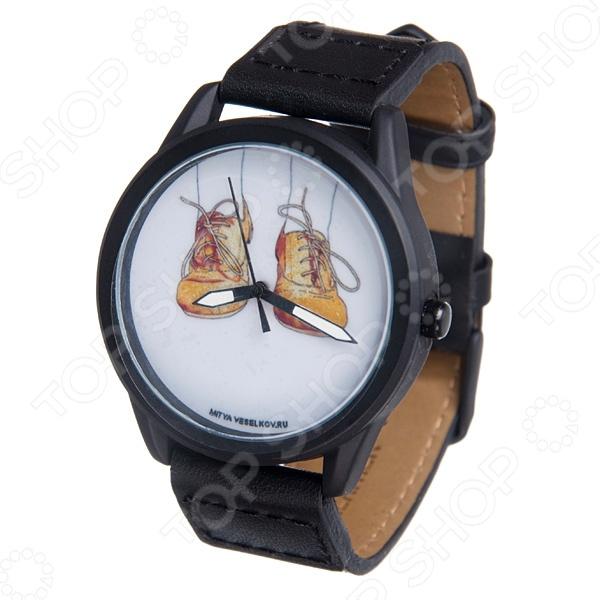 Часы наручные Mitya Veselkov «Ботики» MVBlack визитница mitya veselkov ботики