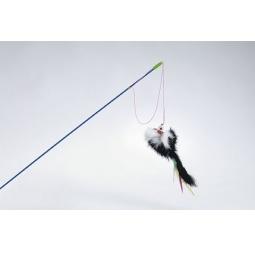 фото Игрушка для кошек Beeztees «Удочка с мышкой и перьями»