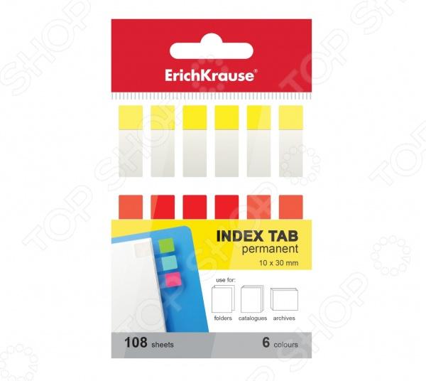 Набор стикеров-закладок Erich Krause 35148Бумага для заметок. Стикеры. Блоки<br>Набор стикеров-закладок Erich Krause 35148 - комплект удобных гибких закладок на пластиковой основе с липким клеевым слоем. Суперклейкие полоски надежно крепятся на различные поверхности. Набор отлично подходит для использования в архивных файлах и организации картотек. Специальное покрытие из бумаги позволяет сделать важные пометки. Размер одной закладки составляет 10х30 мм. В набор входят 180 листов 6 разных цветов. Закладки не предназначены для многократного использования.<br>