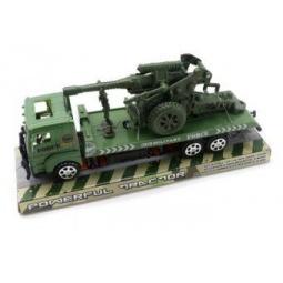 фото Машинка инерционная Shantou Gepai «Трак военный с пушкой»