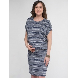 Купить Костюм для беременных Nuova Vita 3334.01. Цвет: синий, белый
