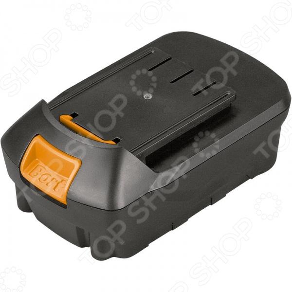 Батарея аккумуляторная Bort BA-18U-Li-1,5Аккумуляторные батареи. Зарядные устройства<br>Батарея аккумуляторная Bort BA-18U-Li-1,5 относится к самым востребованным типам аккумуляторных батарей, которые используются для подзарядки различных электроинструментов. Данная модель предназначена для шуруповертов Bort BAB-18U-LIK. Основу батареи составляет подзаряжаемый литий-ионный аккумулятор, который позволяет выполнять значительно больший объем работы лишь на одном заряде батареи. Преимущества данного устройства в том, что оно способно отдавать полный разряд даже после продолжительного хранения. Это обеспечивает быструю готовность инструмента. Аккумуляторную батарею следует хранить заряженной минимум на 50 .<br>