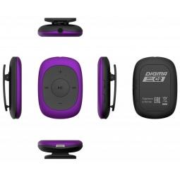 фото MP3-плеер Digma C2 8Gb. Цвет: фиолетовый, черный