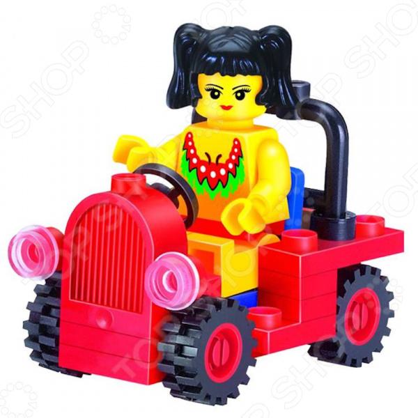Конструктор игровой Brick Girls Series Little Car 1717059Игровые конструкторы<br>Конструктор игровой Brick Girls Series Little Car 1717059 замечательная развивающая игрушка, которая станет отличным решением для активных и любознательных малышей. Игровой конструктор выполнен из высококачественной и безопасной пластмассы, которая гарнирует легкость и надежность деталей. В картонной коробке вы сможете найти детали самых разнообразных форм, из которых можно собрать очаровательную машинку двух моделей для юной путешественницы. Входящие в комплект фигурка и дополнительные аксессуары сделают игру ещё более реалистичной. Поверьте ваш ребенок получит удовольствие не только от игры, но и от самого процесса конструирования. С помощью этой увлекательной игрушки вы также сможете развить у ребенка воображение, мелкую моторику рук, творческое и пространственное мышление. Все детали конструктора также совместимы с конструкторами других марок, например, LEGO, Sluban, Ausini, Bela, что является его дополнительным преимуществом. Подарите вашему ребенку несколько часов увлекательной и занимательный игры с игровым конструктором Brick Girls Series Little Car 1717059!<br>
