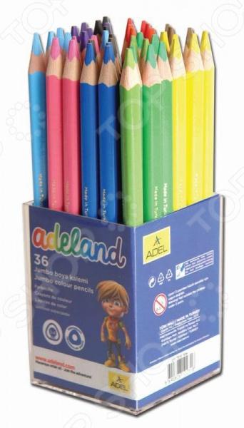 Набор карандашей цветных Набор карандашей ADEL Jumbo 211-7510-104