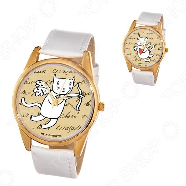 Часы наручные Mitya Veselkov «Кот-амур с луком»