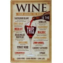 фото Картина на металле Феникс-Презент «Вино»