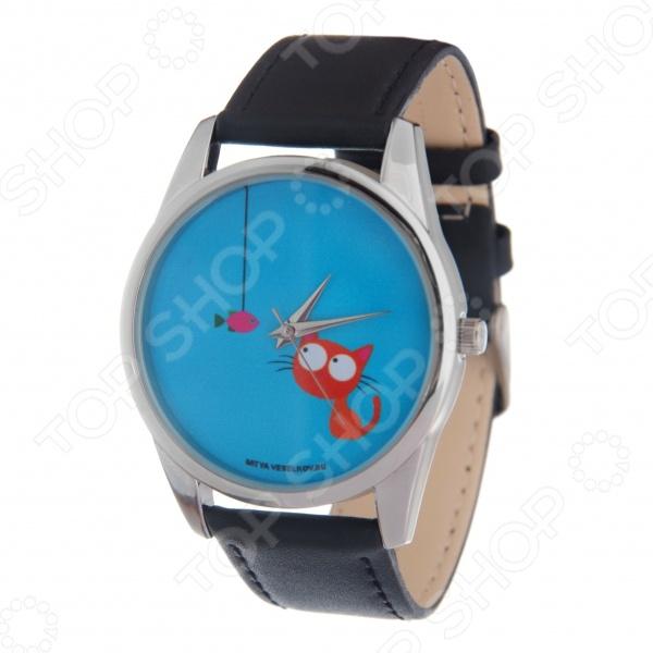 Часы наручные Mitya Veselkov «Кошка и рыбка» MV mitya veselkov mitya veselkov mv shine 21