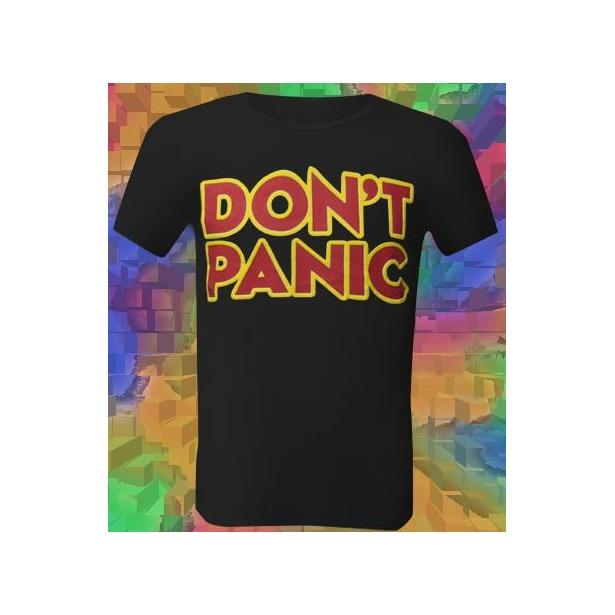 фото Футболка мужская Dodogood Don't panic. Цвет: черный. Размер одежды: 46