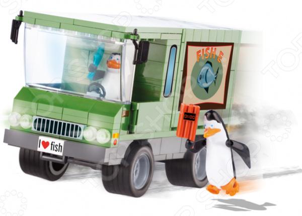 Конструктор игровой Cobi «Ограбление грузовика для доставки рыбы»Игровые конструкторы<br>Конструктор игровой Cobi Ограбление грузовика для доставки рыбы прекрасный подарок для поклонников мультфильма. Комплект содержит детали, с помощью которых можно собрать специальный грузовик для оперативного подвоза сардин. В комплекте 2 фигурки Рико и Ковальски. Сборка не только развлекает, но и помогает развивать моторику рук, логическое мышление и воображение ребенка. Все детали выполнены из нетоксичных материалов, поэтому полностью безопасны. Рекомендуется для детишек от 5 лет и старше. Преимущества:  Множество оригинально выполненных элементов.  Увлекательный процесс сборки.  Качественный материал.<br>