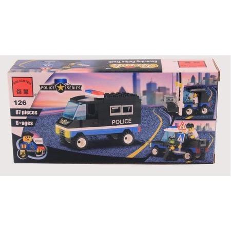 Купить Конструктор игровой для ребенка Brick «Полицейская машина» 126