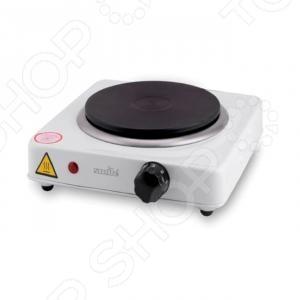 Плита настольная Smile SEP-9005Настольные плиты<br>Плита настольная Smile SEP-9005 достаточно компактная электроплитка, заменяющая традиционные громоздкие, газовые плиты. Такая плита обеспечивает сравнительно быстрый нагрев посуды. Корпус изготовлен из металла с термостойким эмалированным покрытием. Оснащена плавно регулируемым термостатом. Также есть световой индикатор включения. Имеет нагревательный диск 155 мм, мощностью 1000 Вт.<br>