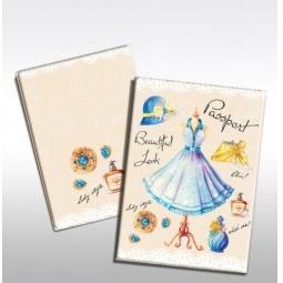 фото Обложка для паспорта Феникс-Презент «Маленькое голубое платье»