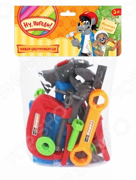 Набор инструментов игровой 1 Toy «Ну, погоди!» Т58341Сюжетно-ролевые наборы<br>Набор инструментов игровой 1 Toy Ну, погоди! Т58341 станет замечательным подарком для ребенка и сможет надолго увлечь вашего малыша и всех его друзей богатым ассортиментом входящих в набор предметов. Данный комплект содержит гаечный и разводной ключи, а также несколько других аксессуаров, потому великолепно подходит для сюжетно-ролевых игр и позволяет развить фантазию и мелкую моторику ручек ребенка. Все изделия выполнены из нетоксичного пластика, поэтому полностью безопасны для детей.<br>