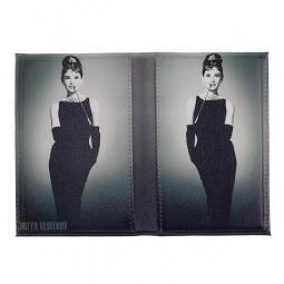 фото Обложка для паспорта двухсторонняя Mitya Veselkov «Одри в черном платье»