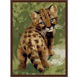фото Набор для раскрашивания по номерам Белоснежка «Детёныш леопарда»