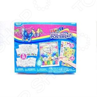 Набор для творчества Savvi Magic Paint PostersKitДругие наборы для детского творчества<br>Набор для творчества Savvi Magic Paint PostersKit станет отличным подарком для юной прелестницы. Ведь в этом наборе есть все, чтобы создавать свои первые шедевры. Ребенок сможет раскрашивать готовые карточки, сделать свой личный альбом для секретов. В набор входят 18 раскрасок, 25 татуировок, 25 наклеек и кисточка.<br>