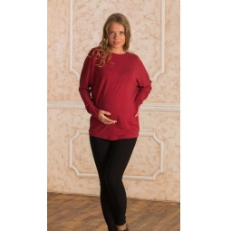 Купить Туника для беременных Nuova Vita 1518.2. Цвет: бордовый