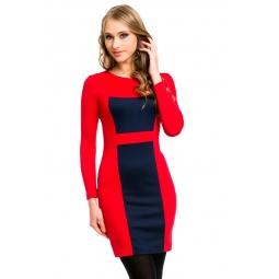 фото Платье Mondigo 5053. Цвет: брусничный. Размер одежды: 46