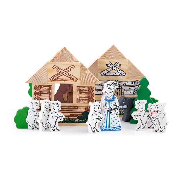 фото Конструктор деревянный Томик «Волк и семеро козлят»