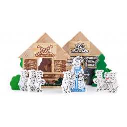 Купить Конструктор деревянный Томик «Волк и семеро козлят»