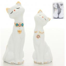 Купить Фигурка декоративная Elan Gallery Пара кошек со стразами