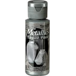 фото Краска акриловая DecoArt Dazzling Metallics. Цвет: искристое серебро