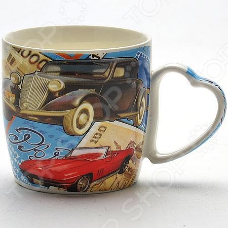 Кружка Loraine LR-21547Кружки. Чашки<br>Кружка Loraine LR-21547 изготовлена из высококачественной керамики и украшена дизайнерским рисунком. Посуда из этого материала позволяет максимально сохранить полезные свойства и вкусовые качества воды. Заварите крепкий, ароматный кофе или чай в представленной модели, и вы получите заряд бодрости, позитива и энергии на весь день! Классическая форма и насыщенная цветовая гамма изделия позволят наслаждаться любимым напитком в атмосфере еще большей гармонии и эмоциональной наполненности. Кроме того, за кружкой легко ухаживать, т.к. ее можно мыть в посудомоечной машине. Кружка Loraine LR-21547 является прекрасным подарком для ваших любимых, родных и близких. Поставляется в подарочной упаковке.<br>