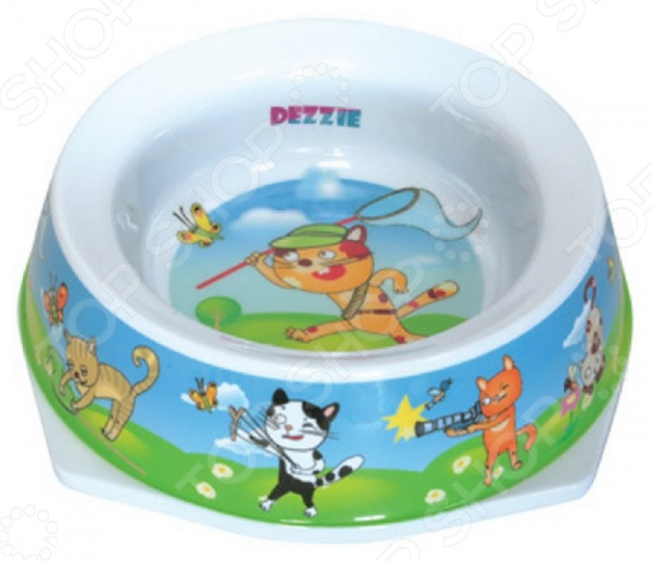 Миска для кошек DEZZIE «Актив» гамма миска для кошек и собак n1