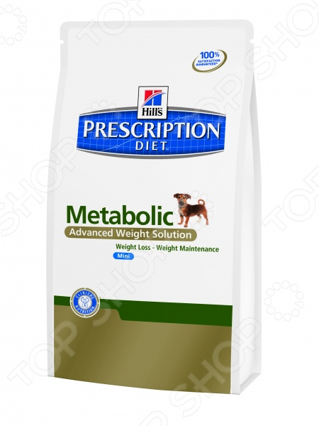Корм сухой диетический для собак Hills Prescription Diet Canine Metabolic MiniЛечебные корма<br>Корм сухой диетический Hill 39;s 3353 Metabolic Mini для коррекции веса предназначен специально для собак мелких пород. Представленный вид питания разработан для тех питомцев, которые испытывают проблемы со здоровьем или находятся в группе риска. Тем не менее, ученым из компании Hill 39;s удалось сохранить прекрасные вкусовые качества корма, поэтому ваш четвероногий друг будет в восторге от своего нового блюда. Уникальное соотношение витаминов, кислот и минералов позволит собаке в самые короткие сроки почувствовать себя намного лучше. Преимущества корма Hill 39;s Prescription Diet Canine Metabolic Mini:  Нутриенты обеспечивают чувство сытости, уменьшая при этом воспаление и стимулируя метаболизм;  Клетчатка помогает усилить чувство насыщения, контролируя при этом аппетит и поддерживая здоровье желудочно-кишечного тракта;  L-карнитин усиливает преобразование жиров в энергию;  Лизин оптимизирует процесс сжигания жиров и укрепляет мышечную массу;  Антиоксидантная формула нейтрализует действие свободных радикалов;  Снижение веса на 1-2 от общей массы тела в неделю;  Общее снижение веса жировой массы на 28 за 60 дней клинически доказано ;  Учитываются индивидуальные энергетические потребности собаки, оптимизируя процесс сжигания жиров и влияя на эффективное использование калорий. Клинические исследования показали, что применение Hill 39;s Prescription Diet Canine Metabolic Mini позволяет избежать повторного набора веса после прохождения программы по его снижению. При этом стоит учитывать, что после достижения оптимального веса, пищевая программа должна быть скорректирована. Данный вид корма не подходит для:  Кошек;  Щенков;  Беременных и кормящих сук. Внимание! Рационы Hill 39;s Prescription Diet могут быть рекомендованы только ветеринарным врачом. Осуществляя покупку, вы подтверждаете, что осведомлены о необходимости получения рекомендации ветеринарного специалиста не реже, ч
